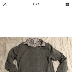 2 JANIE AND JACK boys shirt sweater size 8